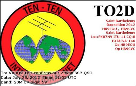 TO2D eqsl