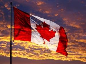 CanadaFlagSunset1